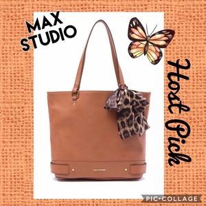 MAX STUDIO▪️Cognac Brown Shoulder Purse Large